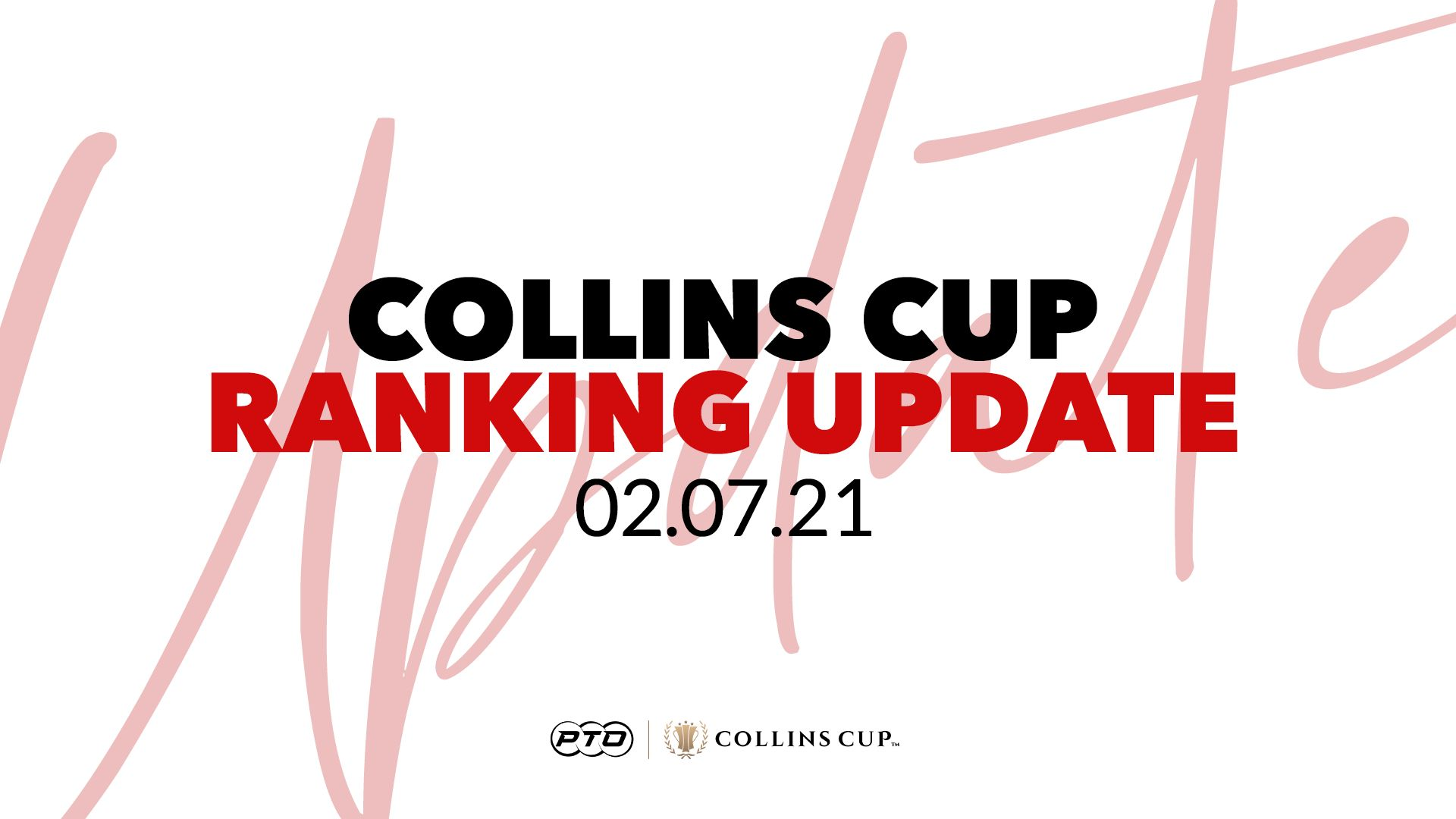 Collins Cup Ranking Update: 2nd July
